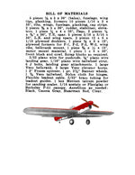 "Full Size printed plans and Article 1956 50"" W/S .35 ENGINE STUNT PLANE BLACK HAWK"