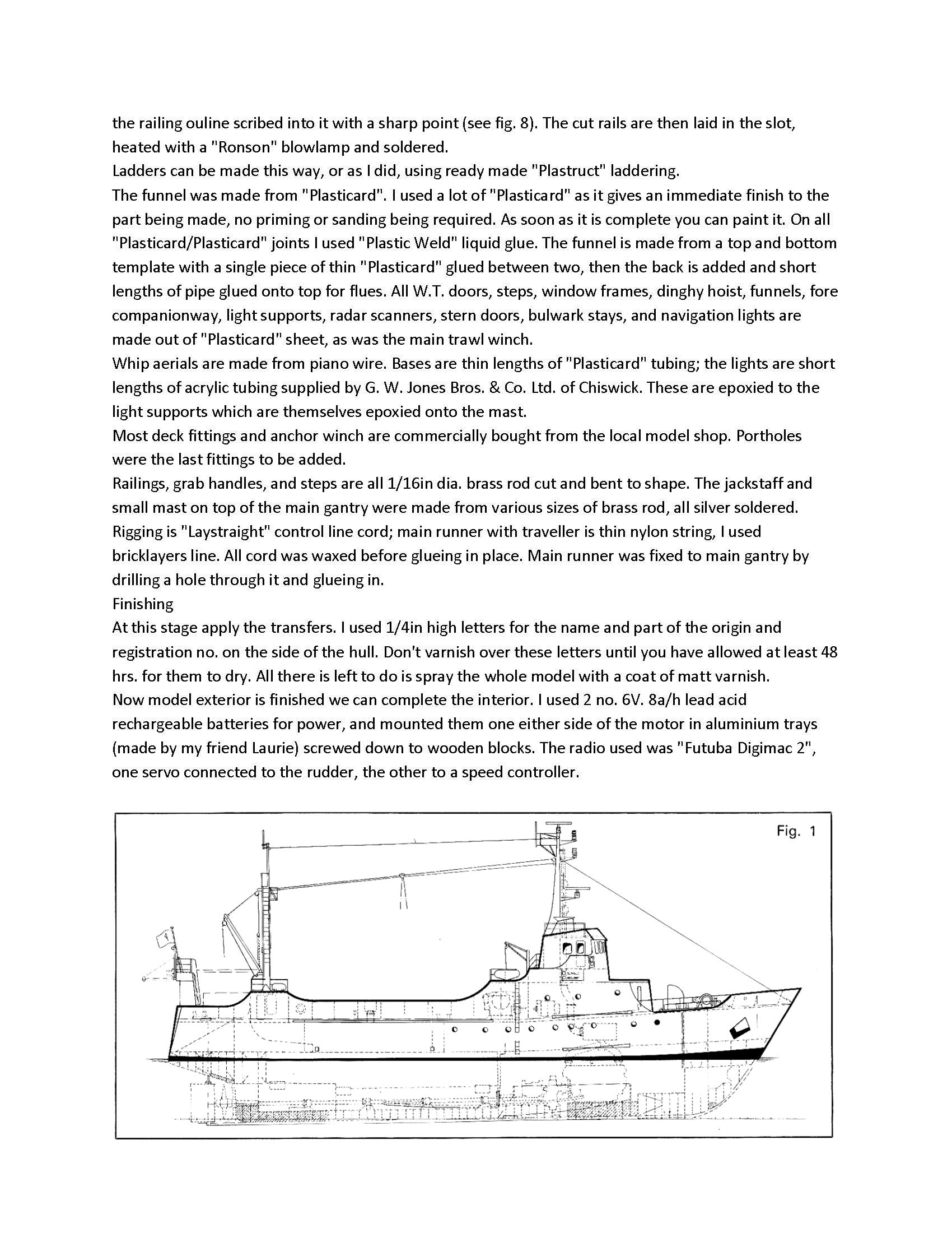Digital full size plans on Cd Scale 1:48 trawler,BOSTON BLENHEIM Suitable for radio control