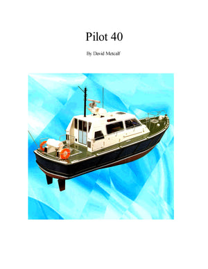 Full Size Printed Plan Pilot or Police launches Twin Electric Suitable for Radio Control