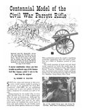 Full size printed plan and article Scale 1:16 Centennial Model of the Civil War Parrott Rifle
