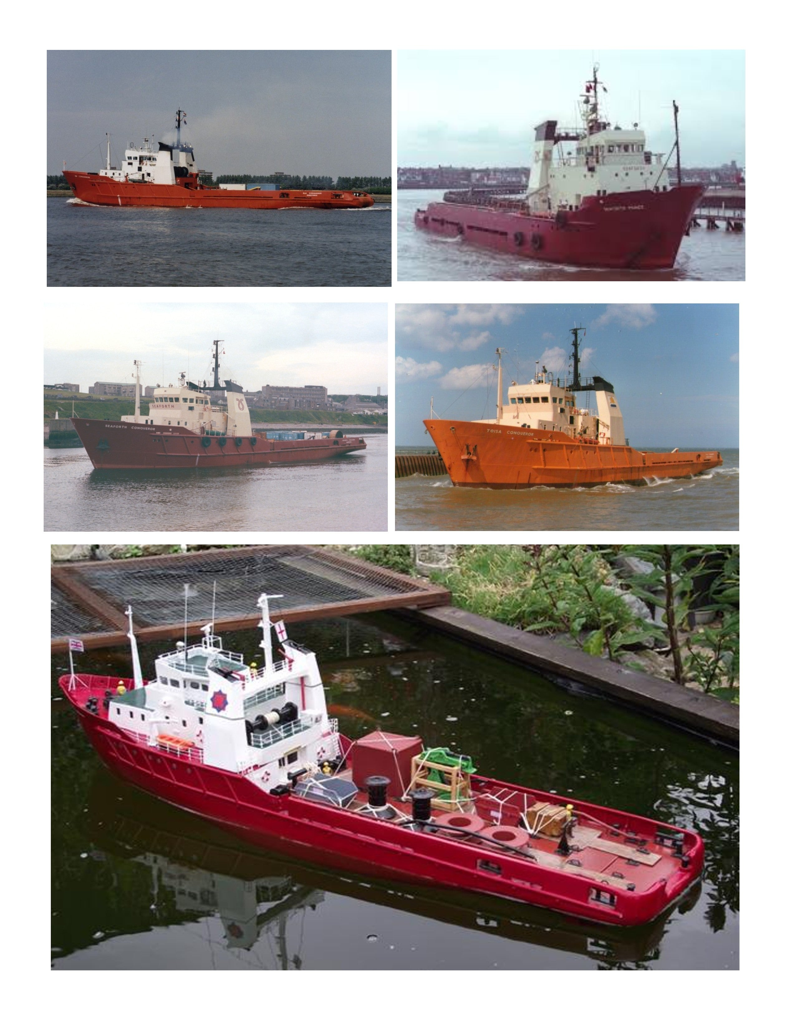 Full Size Printed Plan Scale 1:75 Anchor Handling Tug Supply Ship suitable for Radio Control