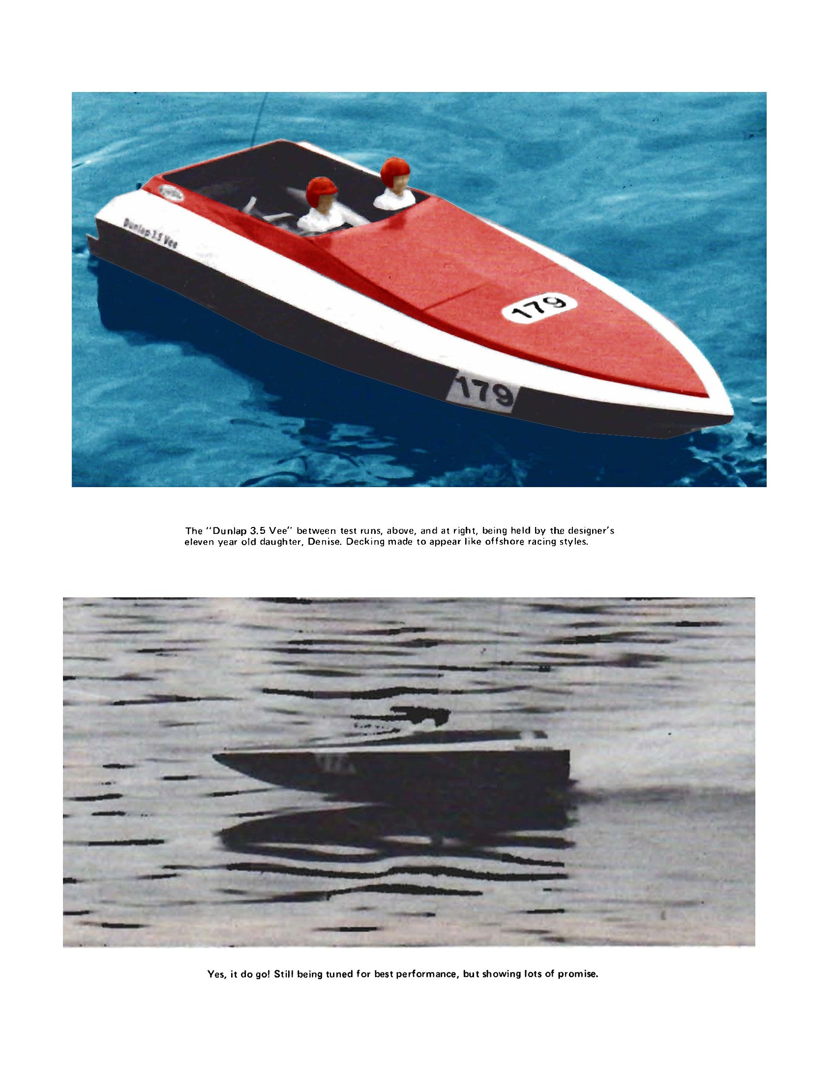 Digital full size plans on Cd offshore racer style DUNLAP 3.5 VEE suitable for Radio Control