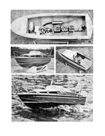 "Full Size Printed Plan build 1:12 Scale cabin cruiser ""FAIREY MARINE SWORDSMAN"" for radio control"