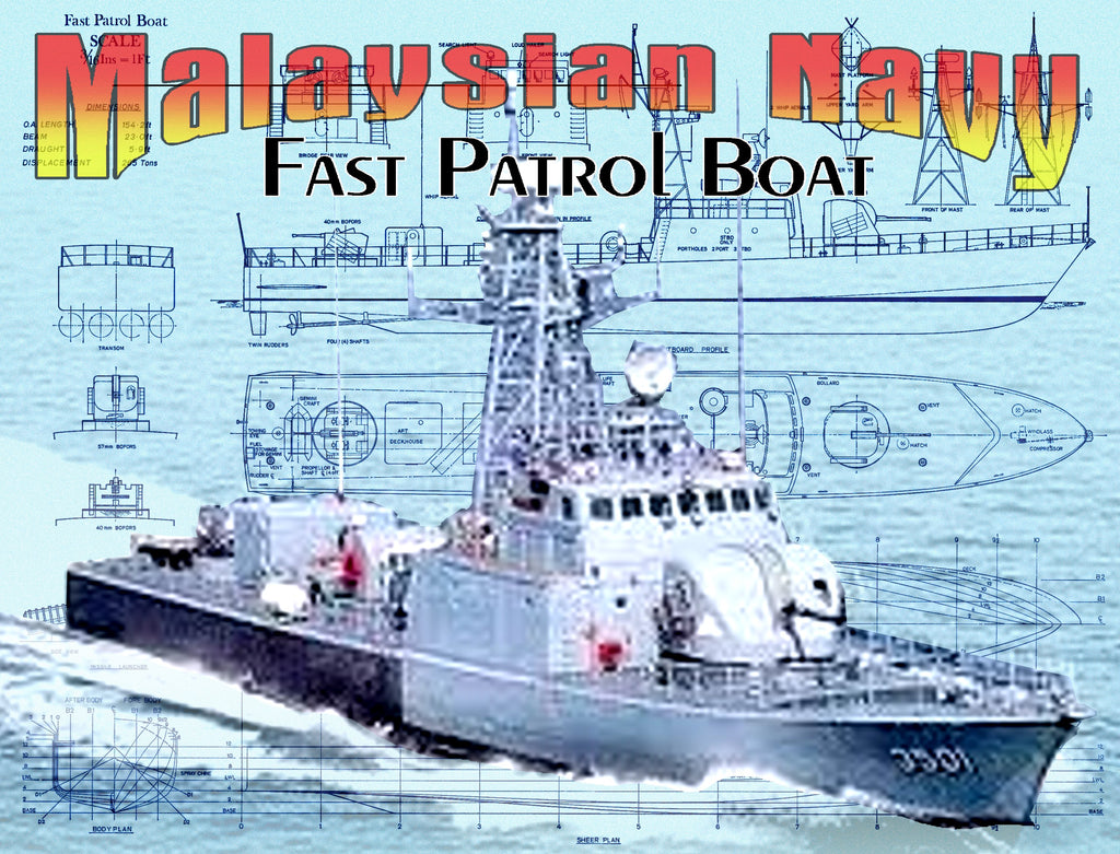 Full Size Printed Plans  U0026 Article Malaysian Navy Fast