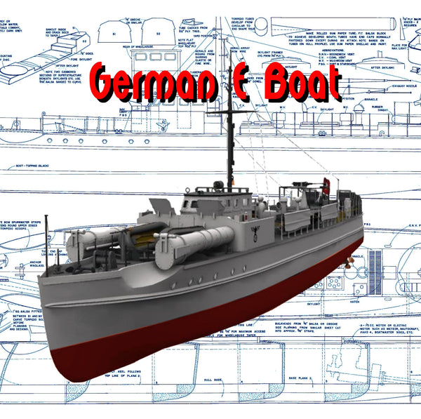 "Build a 1:32 Scale 35"" for Radio Control WW II GERMAN 'E' BOAT Full Size Printed Plan"