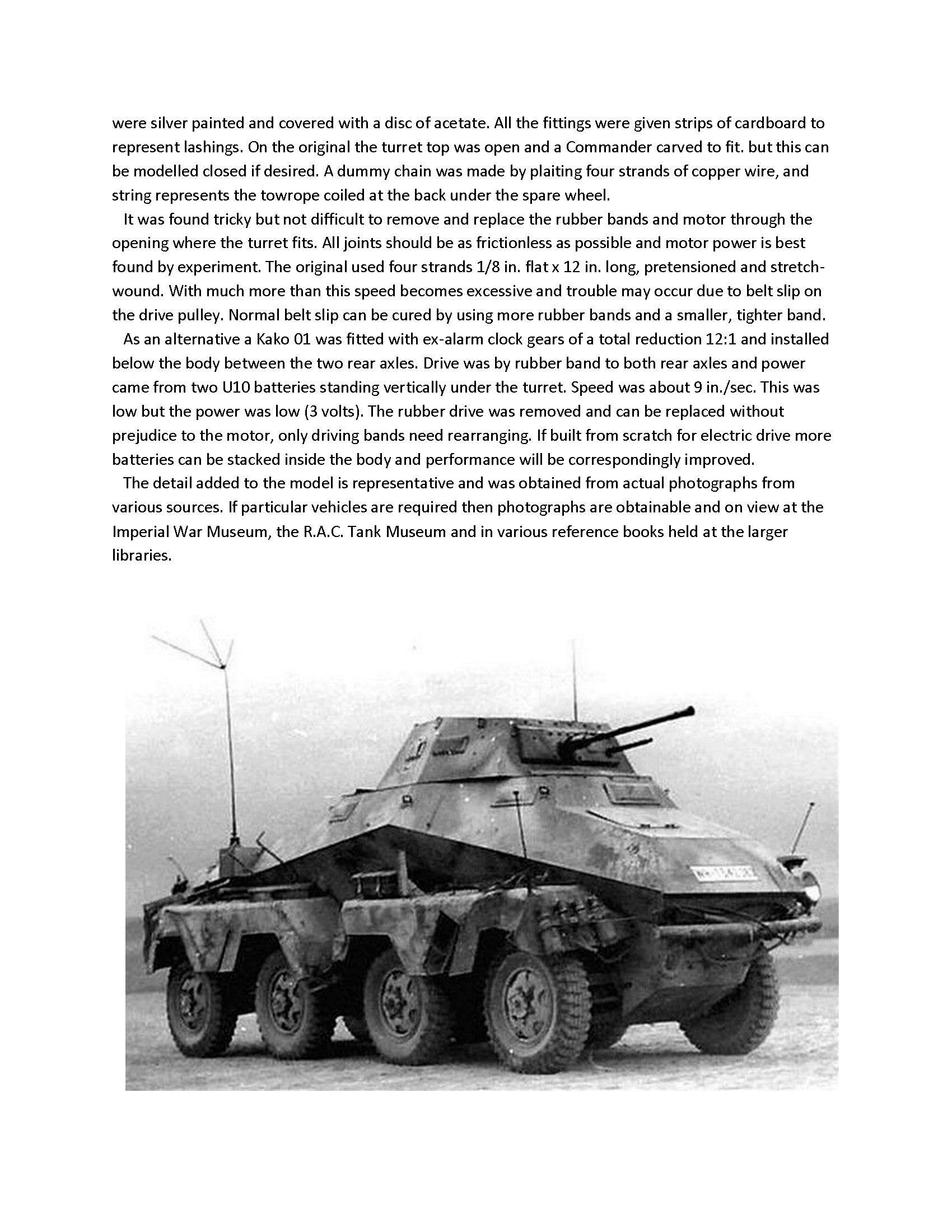 Full Size Printed Plan Scale 1:24 German SD KFZ 231 8-rad Armoured Car No materials. Plan only