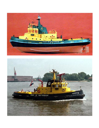 Full Size Printed Plan Scale 1:30 Dutch General Duties Harbour Tug suitable for radio control