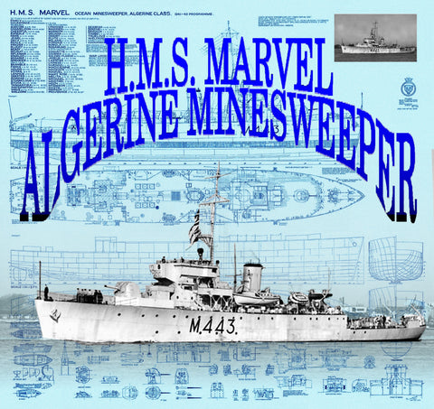 Drawings for 1:96 Scale ALGERINE MINESWEEPER H.M.S. Marvel Full size drawing