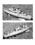 "Full Size Printed Plan guided missile ship  Scale 1:192  LENGTH 32 ½"" for R/C"