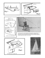 "Full Size Printed Plans 36R yacht for vane or radio control, L36"" 49 page building article"