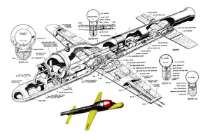 Full Size Printed Plan Control Line Jet Speed  Vintage 1953 Hot Canay National Jet speed record job