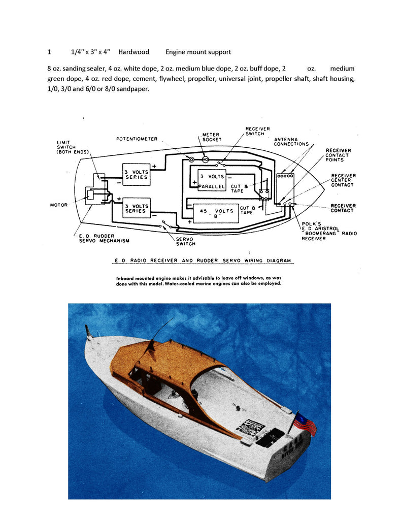 Cabin Cruisers Boat Model Plans Yachts Wiring Diagram Higgins Cruiser Scale Full Size Printed For Radio Control 792x1024