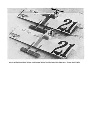 "Full Size Printed Plan & Building Notes 1/2A Combat. *LI'L SNIP* W/S 25 ½""  Engine .049"