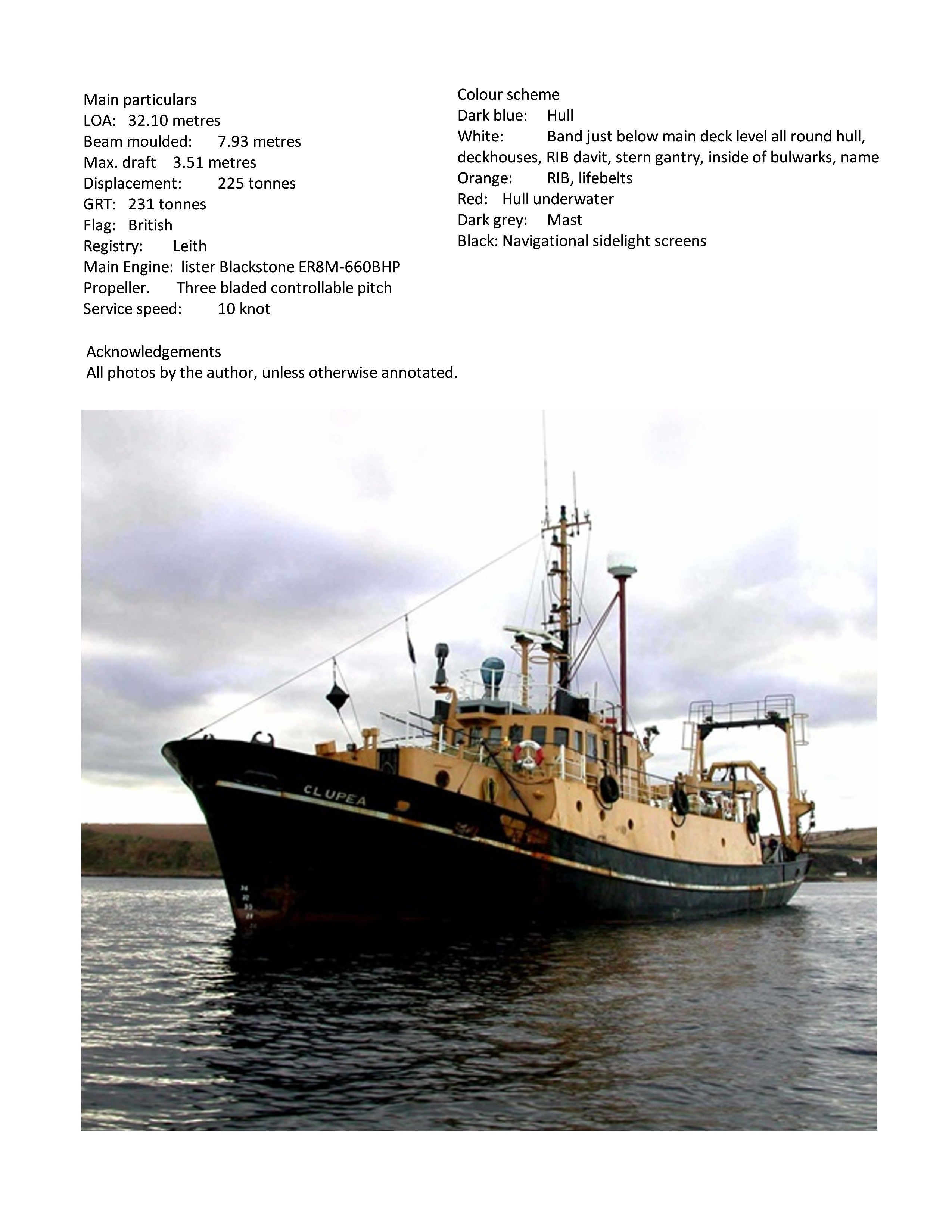 Full size Printed Plans Research vessel  Scale 1:40 Suitable for Radio Control