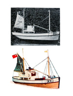 Digital full size plans on Cd Semi-Scale 1:16 Norwegian fishing boat For two channel radio control