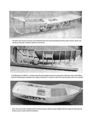 Full Size Printed Plan Scale 1:24 Californian fishing vessel for Radio Control