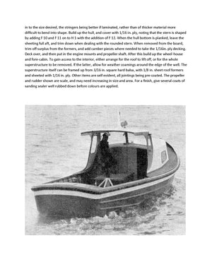 Build a 1:16 scale Thames Tender  for R/C Full Size printed plans