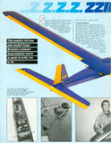 "Full Size Printed Plan  Slope Soarer Glider 57"" W/S for radio control quick to build, fun to fly"