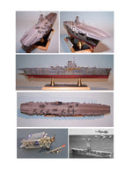 "Full Size Printed Plan aircraft carrier  Scale 1/192  Length 50"" for Radio Control"