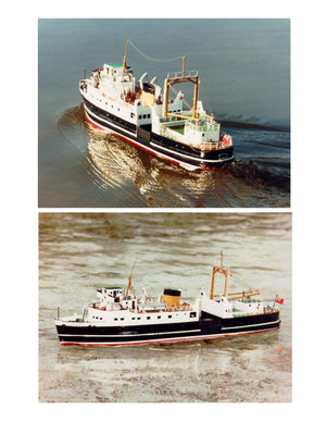 Full Size Printed Plan Clyde vehicle ferry M.V. ARRAN Scale 1:64 Suitable for Radio Control
