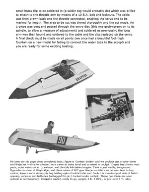 "Full Size Printed Plan racing boat 25 in, ""SNAPPER"" for MULTI CHANNEL RADIO CONTROL"