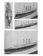 "Full Size Printed Plans  Scale 8' = 1"" ( 1/196) armoured cruiser  Length 57 3/4"" for Radio Control"