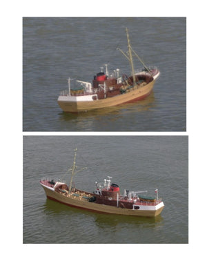 Digital full size plans on Cd Scale 1:48 Trawler M.T. NAVENA Suitable for Radio control