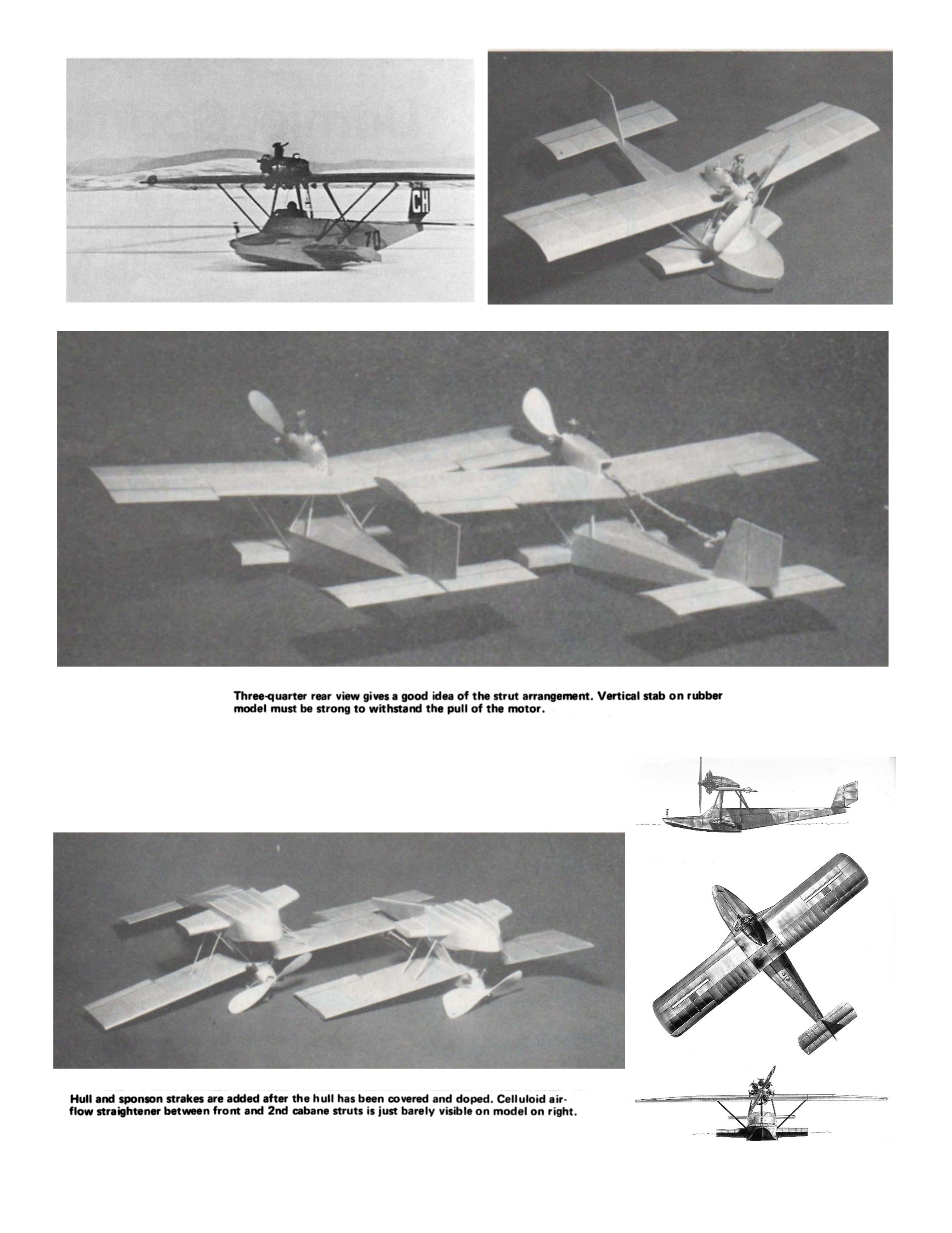 "Full Size Printed Peanut Scale Plans Dornier ""LIBELLE"" for rubber or C02' Naturally, both are excellent fliers"