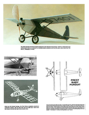 Full Size Printed Peanut Scale Plans BABY PURSUIT makes a great flying Peanut.