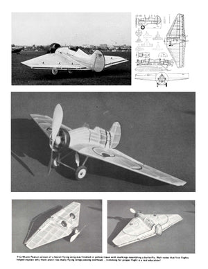 Full Size Printed Peanut Scale Plans BOK·5 a Soviet flying wing