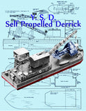 "Full Size Printed Plans and Article Y.S.D.  Self Propelled Derrick Semi-Scale 1:72  Length 15""  For Radio control"