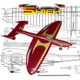 "FULL SIZE PRINTED PLANS AND ARTICLE W/S 52"" .35 Engine SHIEK Classic Stunt"