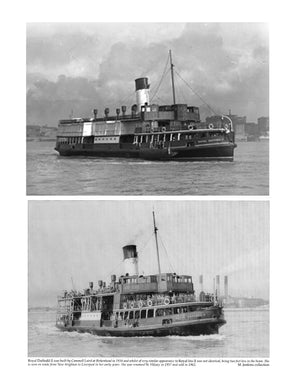 "Full Size Printed Plan Scale 1:48 Mersey Ferry ""Royal Daffodil II"" Suitable for Radio Control"