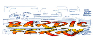 Full Size Printed Plan Scale 1:96 Bardic Ferry Suitable for radio Control