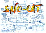 FULL SIZE PRINTED PLAN & ARTICLE Scale 1:16 SNO-CAT For Radio Control
