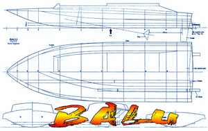 Full Size Printed Plan A Class FI-V15 speed model, Suitable for multi-channel Radio Control