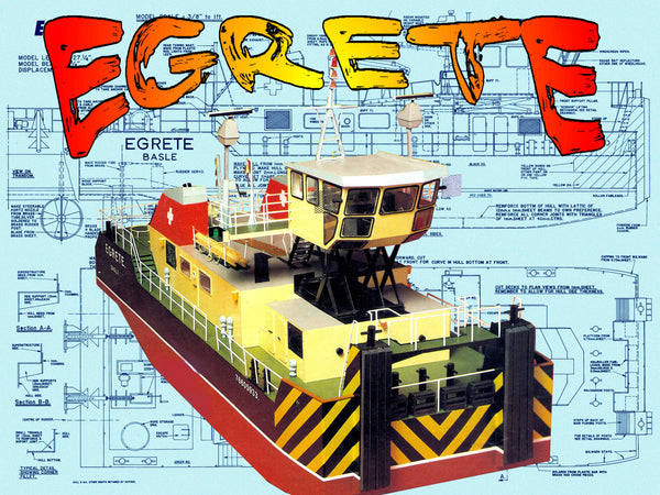 Full Size Printed Plans Rhine Pusher Tug L 27 1 4 In B 9 3