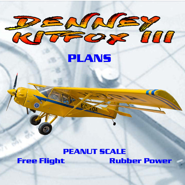 Full Size Printed Peanut Scale Plans DENNEY KITFOX III makes a great scale  subject