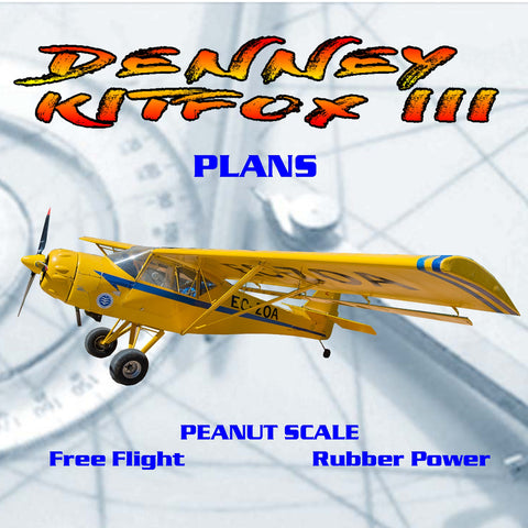Full Size Printed Peanut Scale Plans DENNEY KITFOX III makes a great scale subject.