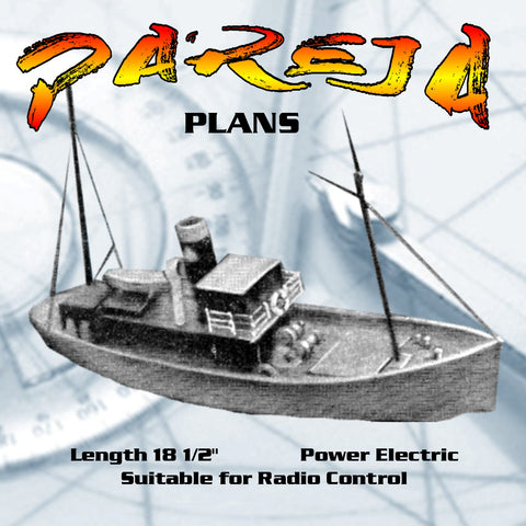 Full size Printed Plans Scale 1:24  SPANISH FISHING VESSEL PAREJA Suitable for radio control
