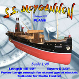 Full size Printed Plans Raised Quarterdeck Coaster S.S. MOYGANNON Scale 1:48 Suitable for Radio control