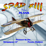 "Full size printed plans Peanut Scale ""SPAD XIII"" airplane can be so well known and popular that it gets completely over looked!"