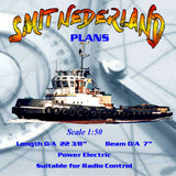 Full Size Printed plan to build 1:50 scale R/C Dutch harbour tug SMIT NEDERLAND