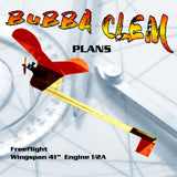 listing is for Full Size Plan Vintage 1981 ½ A Contest FF BUBBA CLEM Easily built and trimmed