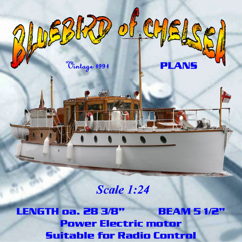 This for Full Size PLANS Scale 1:24 Thornycroft LOA 28 3/8 motor yacht  for Sir Malcolm Campbel
