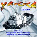 Full Size Printed Plan to Build a Scale 1:48 AUSTRALIAN TUG Suitable for Radio Control
