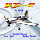 Full Size Printed Peanut Scale Plans Bede BD-8  it flys just fine,
