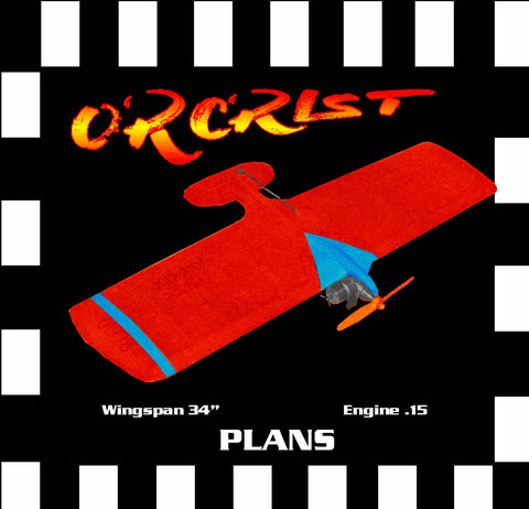 Full Size Printed Plan & Building Notes *ORCRIST*  1971 British Nationals  Combat Winner