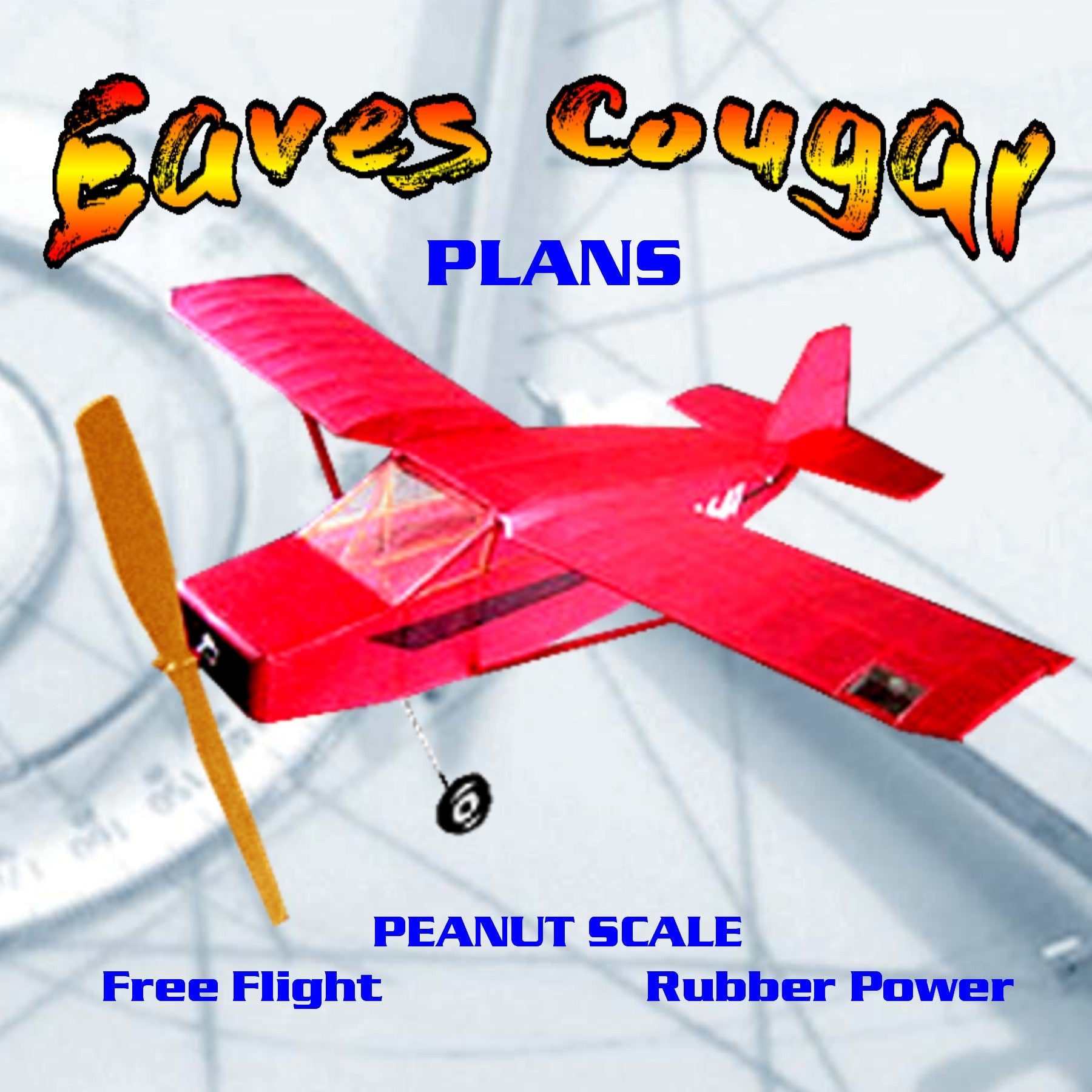 Full Size Printed Peanut Scale Plans Eaves Cougar won a trophy at the AMA Nats