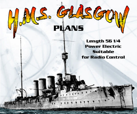 Full SizeFull Size Printed Plans Scale 1/96 BRISTOL CLASS LIGHT CRUISER  H.M.S. GLASGOW